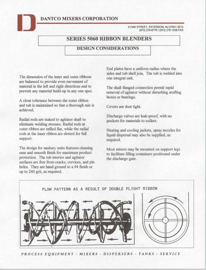 ribbon blender design calculations pdf